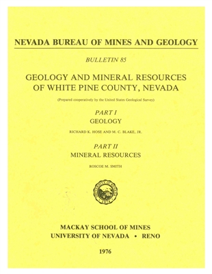 geology and mineral resources of white pine county nevada paper copy. Black Bedroom Furniture Sets. Home Design Ideas