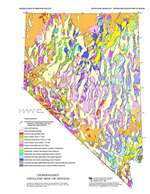 Generalized geologic map of nevada - Geological survey and mines bureau ...