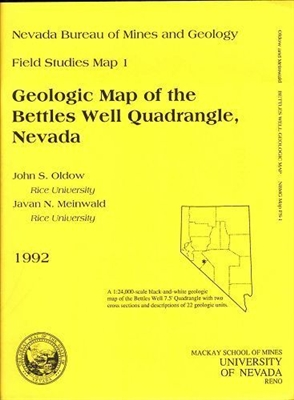 Geologic map of the bettles well quadrangle nevada b w map - Geological survey and mines bureau ...