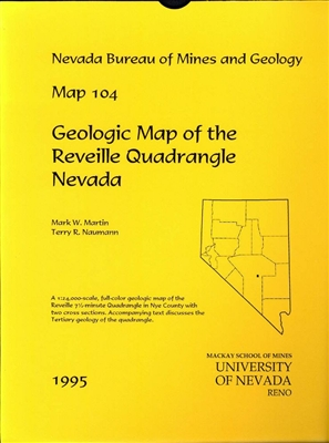 Geologic map of the reveille quadrangle nevada map and text - Geological survey and mines bureau ...