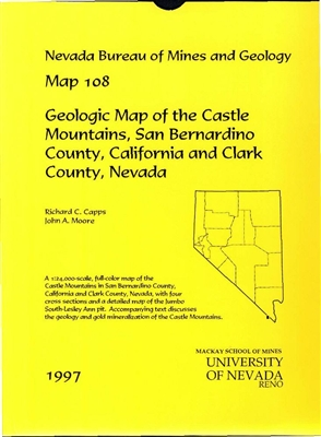 geologic map of the castle mountains san bernardino county california and clark county nevada. Black Bedroom Furniture Sets. Home Design Ideas