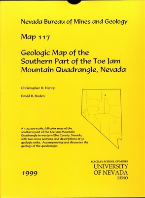 geologic map of the southern part of the toe jam mountain quadrangle nevada map and text. Black Bedroom Furniture Sets. Home Design Ideas