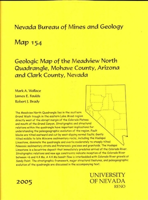 geologic map of the meadview north quadrangle mohave county arizona and clark county nevada. Black Bedroom Furniture Sets. Home Design Ideas