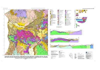 geologic map of the seven lakes mountain quadrangle washoe county nevada and the eastern part. Black Bedroom Furniture Sets. Home Design Ideas
