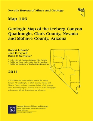 Geologic map of the iceberg canyon quadrangle clark county nevada and mohave county arizona - Geological survey and mines bureau ...