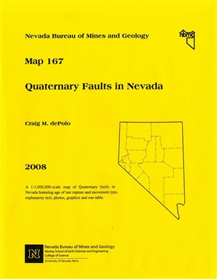 quaternary faults in nevada paper map. Black Bedroom Furniture Sets. Home Design Ideas