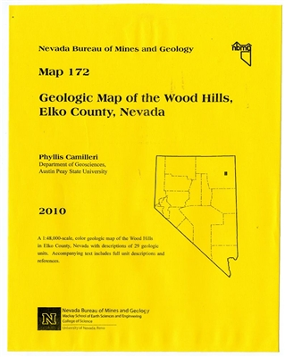 geologic map of the wood hills elko county nevada map and text. Black Bedroom Furniture Sets. Home Design Ideas
