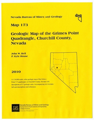 Geologic map of the grimes point quadrangle churchill county nevada map and text - Geological survey and mines bureau ...