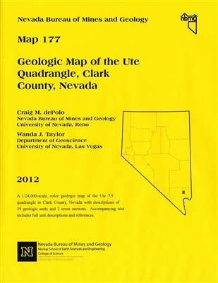 Geologic map of the ute quadrangle clark county nevada map and text - Geological survey and mines bureau ...