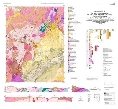 Geologic map of the flowery peak quadrangle storey and lyon counties nevada map and text - Geological survey and mines bureau ...