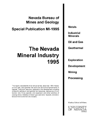 the nevada mineral industry 1995 out of print photocopy. Black Bedroom Furniture Sets. Home Design Ideas