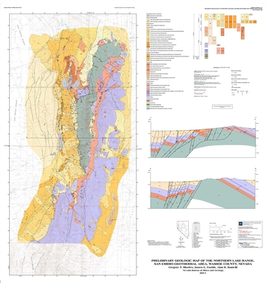 Preliminary geologic map of the northern lake range san emidio geothermal area washoe county - Geological survey and mines bureau ...