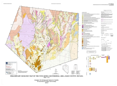 preliminary geologic map of the tuscarora geothermal area elko county nevada two plates and text. Black Bedroom Furniture Sets. Home Design Ideas