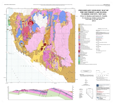 preliminary geologic map of the southern lake range washoe county nevada map and text. Black Bedroom Furniture Sets. Home Design Ideas