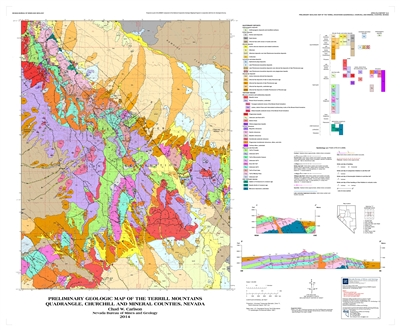 Preliminary geologic map of the terrill mountains quadrangle churchill and mineral counties nevada - Geological survey and mines bureau ...