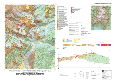 preliminary geologic map of the mount rose quadrangle washoe county nevada map and text. Black Bedroom Furniture Sets. Home Design Ideas