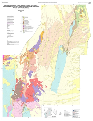 Preliminary geologic map of cenozoic units of the central robinson mountain volcanic field and - Geological survey and mines bureau ...