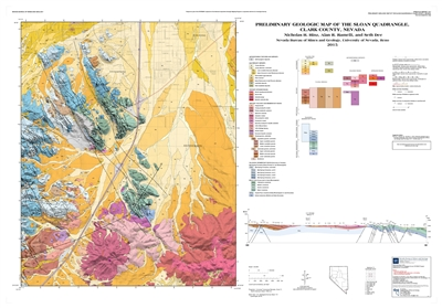 preliminary geologic map of the sloan quadrangle clark county nevada map and text. Black Bedroom Furniture Sets. Home Design Ideas