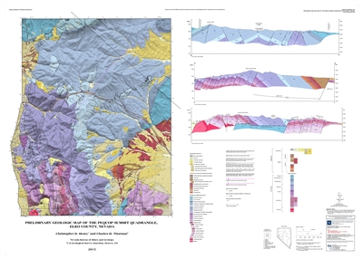 preliminary geologic map of the pequop summit quadrangle elko county nevada map and text. Black Bedroom Furniture Sets. Home Design Ideas