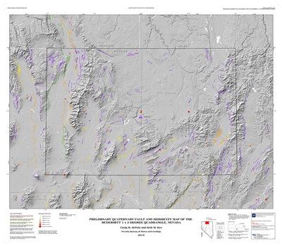 Preliminary Quaternary Fault And Seismicity Map Of The