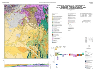 preliminary geologic map of the boulder city quadrangle clark county nevada map and text. Black Bedroom Furniture Sets. Home Design Ideas