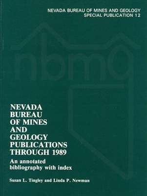 nevada bureau of mines and geology publications through 1989 an annotated bibliography with index. Black Bedroom Furniture Sets. Home Design Ideas