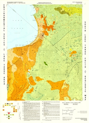 South lake tahoe folio geologic map - Geological survey and mines bureau ...